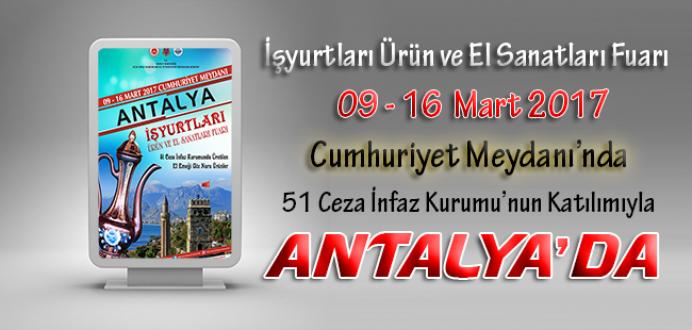 Ceza İnfaz Kurumları, Tutukevleri İşyurtları Fuarı ile Antalya'da !