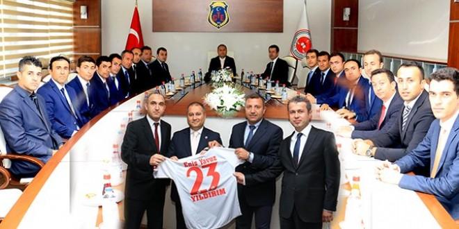 CTE Futbol Takımı Genel Müdürümüz Eniz Yavuz YILDIRIM'ı Ziyaret Etti