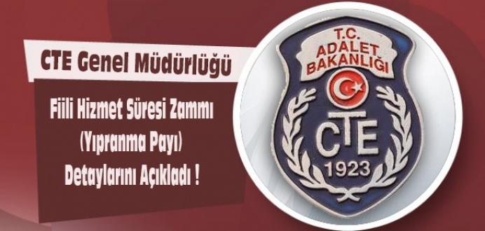 CTE Genel Müdürlüğü Fiili Hizmet Süresi Zammı (Yıpranma Payı ) ...